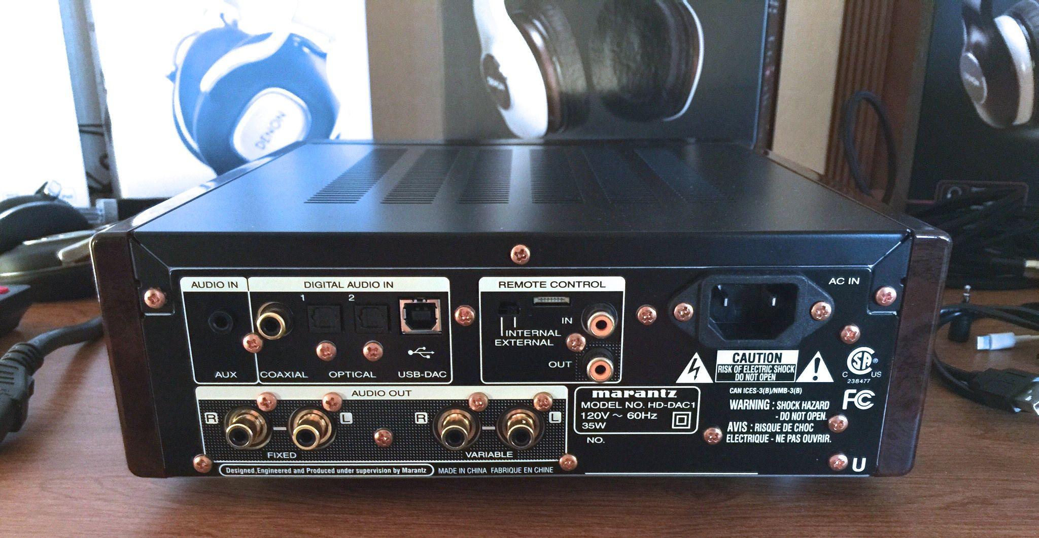 The New Marantz HD DAC1 And Denon DA 10 RMAF 2014